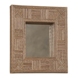 "Linon Home Decor - Linon Home Decor Mosaic Cocostick Rectangle Mirror X-1-TCER708RIM-TIMA - Handcrafted from natural fibers, the Mosaic Cocostick Rectangle Mirror is a work of art. Measuring 25.5""x29.5"" this piece is perfect hanging alone or in a group. The simple, versatile design easily complements a variety of d&#233:cor colors and styles. We suggest you consult a professional before hanging."