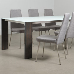 Trica Empire Dining Set - The Trica Empire Dining Set. Designed from solid wrought iron, wood, or tubular steel, all of our glass top dining sets can be finished in the color of your choice. All upholstery color patterns on our metal dining chairs can selected as well. Our stylish glass top dining sets have have tempered glass with wood or metal frames. Browse through our metal dining sets, chairs, and bar stools for the style of your choice, and we can customize the color to fit your decor. Our modern glass top dining sets offer a 10 year to lifetime warranty!