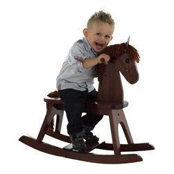 Stork Craft - Stork Craft PlayTyme Child's Rocking Horse in Espresso - Stork Craft - Ride On Toys - 06540019 - A wonderful addition to any child's room this PlayTyme Child's rocking horse allows your child to rock safely without worry of tipping over. The solid wood construction coupled with high quality durable finishes ensures that you will enjoy this rocking horse for many years to come.