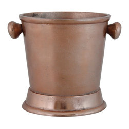 Selectives - 8-Inch Tall Prize Metal Ice Bucket - Perfect for cooling wine or bottled water, this beautiful round copper bucket is a versatile addition to your kitchen or bar.