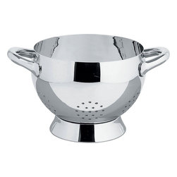"Alessi - Alessi ""Mami"" Colander - Whether you're washing arugula or draining a heaping pot of pasta, a sturdy colander is a must. You'll find countless uses for this beautiful stainless steel piece. It also makes a creative gift basket when filled with a gourmet jar of sauce, package of pasta and a loaf of crusty bread."