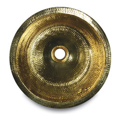 RLB - The RLB is a solid brass round sink that is hand made and hammered in India.