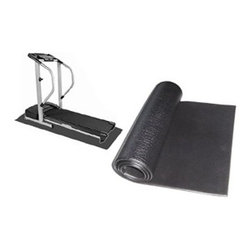 Apollo Athletics Exercise Equipment Mat - 36x48 in. - Keep your exercise equipment in place with the Apollo Athletics Exercise Bike/Stepper Mat - 36x48 in.. This handy mat is also a great way to keep your treadmill or bike from marring the floors of your home gym or workout area. It also reduces noise and provides added cushion.