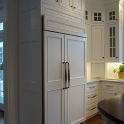 Double Row of Upper Cabinets - This Kitchen has 10ft Ceilings.