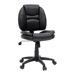 Sauder - Sauder DuraPlush Task Chair in Black - Sauder - Office Chairs - 412073 -
