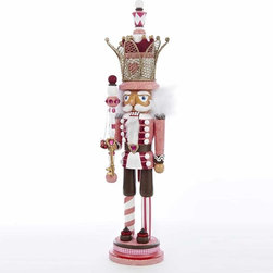 Kurt Adler - Kurt Adler 20-inch Hollywood Pink King Nutcracker with Crown - Designed by renowned artist Holly Adler,Hollywood Nutcrackers is a whimsical collection of nutcrackers created exclusively for Kurt S. Adler,Inc.