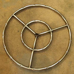 "Dagan Industries - Stainless Steel Fire Ring for Natural Gas Fire Pit, 19"" - Made to go with our Wok Fire Pits, these fire rings come in 19""diameter for the 33"" Wok Fire Pit and 22"" diameter for the 36"" or 37"" Wok Fire Pit. Made from Stainless Steel, these fire rings won't rust out with prolonged outdoor exposure like their iron counterparts."