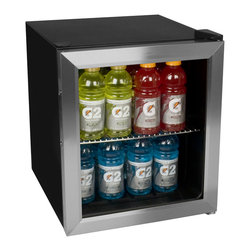 EdgeStar - EdgeStar BWC70SS 62-can Stainless Steel Beverage Cooler - Perfect for dorm rooms and game rooms, this freestanding stainless-steel beverage cooler holds 62 cans of your favorite 12-ounce beverage. The thermostat lets you select the ideal temperature, and the decorative design blends well in most rooms.