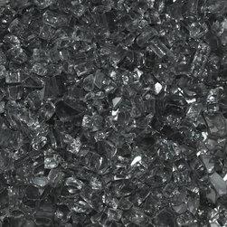"American Fireglass Gray | 1/4-in Fire Glass | 10 Lb - AFF-GRY-10 American Fireglass 10 lbs 1/4"" Accent Gems - Grey CRYSTAL BRILLANCE - ACCENT GEMS"