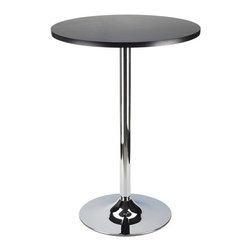 Winsome Trading, INC. - Winsome Wood 93624 Dining Round Pub Table - Simple Round Pub Table for your kitchen or game room. Match with our Air Lift Stool makes it a fun set.