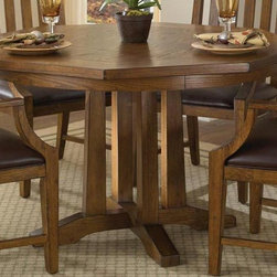 HomeStyles - 48 in. Game Table - Flip table top. Can be used as a dining table. Surface quickly turns into felt-lined game table. Eight drink holders. Cheap slots. Made from Asian hardwoods and oak veneers. Distressed oak finish. 48 in. L x 48 in. W x 30 in. H. Assembly InstructionsInvite friends or family over for a game night with Home Styles arts and crafts game table. This table will live up to its double function for years to come.