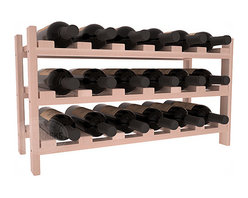 18 Bottle Stackable Wine Rack in Redwood with White Wash Stain + Satin Finish - Expansion to the next level! Stack these 18 bottle kits as high as the ceiling or place a single one on a counter top. Designed with emphasis on function and flexibility, these DIY wine racks are perfect for young collections and expert connoisseurs.