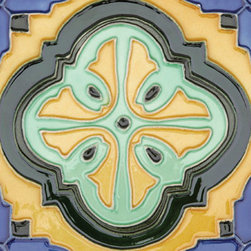 "Glass Tile Oasis - Acapulco 6"" x 6"" Yellow 6"" x 6"" Deco Tiles Glossy Ceramic - All ceramic tiles are hand painted. Glazed thickness will vary from tile to tile, resulting in color variation. Hand-Painted Ceramic tiles will craze and crackle over time, which is intentional and a desired effect."