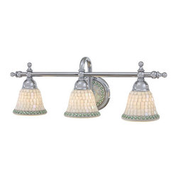 Minka Lavery - Minka Lavery ML 6053 3 Light Bathroom Vanity Light from the Piastrella Collectio - Three Light Bathroom Vanity Light from the Piastrella CollectionFeatures: