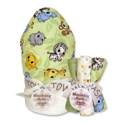 Trend Lab Chibi Zoo Wash Bouquet and Hooded Towel Set - Because you can't have too much of a good thing the Trend Lab Chibi Zoo Wash Bouquet and Hooded Towel Set is fun soft and cute just like baby. Little ones love the adorable animals and love to learn their names while the 100% terry cloth material means every touch is as soft as it can be. Trend Lab will replace any defective products within 30 days of original purchase.About Trend LabBegun in 2001 in Minnesota Trend Lab is a privately held company proudly owned by women. Rapid growth in the past five years has put Trend Lab products on the shelves of major retailers and the company continues to develop thoroughly tested high-quality baby and children's bedding decor and other items. With mature professionals at the helm of this business Trend Lab continues to inspire and provide its customers with stylish products for little ones. From bedding to cribs and everything in between Trend Lab is the right choice for your children.
