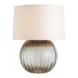 Arteriors - Arteriors 17302-216 Orville Smoke Gray Optic Glass Lamp - Arteriors 17302-216 Orville Smoke Gray Optic Glass Lamp