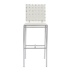 Eurostyle - Carina-B Bar Chair (Set Of 2)-Wht - These sleek bar chairs will have your guests feeling like you brought the lounge to them. And once they experience the inviting seating area and supple backrest, you might have to start charging a cover.