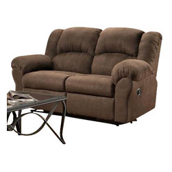 Chelsea Home Furniture - Chelsea Home Ambrose Reclining Loveseat in Aruba Chocolate - Ambrose Reclining loveseat in Aruba Chocolate belongs to Verona IV collection by Chelsea Home Furniture