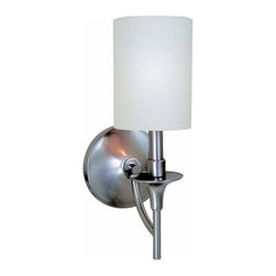 Sea Gull Lighting - 1-Light Wall Sconce Brushed Nickel - 41260-962 Sea Gull Lighting Stirling 1-Light Wall Sconce with a Brushed Nickel Finish