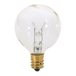 SATCO Lighting - 25W 120V G12 E12 Clear Bulb by SATCO Lighting - This clear decorative globe light bulb from SATCO is designed for use in contemporary chandeliers and pendants with candelabra size sockets. Satco, headquartered in Brentwood, NY, designs and manufactures a variety of high-quality lighting products for residential and commercial applications.