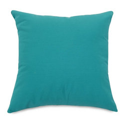 Majestic Home Goods - Teal Extra Large Pillow - Add a splash of color and a little texture to any environment with these great indoor/outdoor plush pillows by Majestic Home Goods. The Majestic Home Goods small Pillow will add additional comfort to your living room sofa or your outdoor patio. Whether you are using them as decor throw pillows or simply for support, Majestic Home Goods pillows are the perfect addition to your home. These throw pillows are woven from outdoor treated polyester with up to 1000 hours of U.V. protection, and filled with Super Loft recycled polyester fiber fill for a comfortable but durable look. Spot clean only.