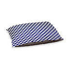 """DiaNoche Designs - Dog Pet Bed Fleece - Checkered Navy - DiaNoche Designs works with artists from around the world to bring unique, designer products to decorate all aspects of your home.  Our artistic Pet Beds will be the talk of every guest to visit your home!  BARK! BARK! BARK!  MEOW...  Meow...  Reallly means, """"Hey everybody!  Look at my cool bed!""""  Our Pet Beds are topped with a snuggly fuzzy coral fleece and a durable underside material.  Machine Wash upon arrival for maximum softness.  MADE IN THE USA."""