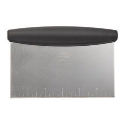 OXO® Pastry Cutter - The pastry chef's best friend is a must for the home cook. Beyond dividing and scraping dough and lifting cookies from baking sheets, it also chops firm foods and scoops them easily into the pot or bowl. Soft rounded handle provides a firm, comfortable grip.