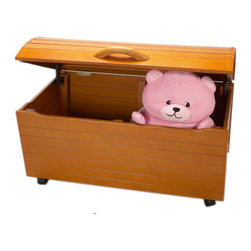 "Gift Mark - Gift Mark Home Kids Children Treasure Chest Mega Storage On Casters Honey - The Gift mark Treasure Chest with it's Beautifully detailed arched back, has become a Classic. This Multi-functional Toy and Storage Box will add an element of sophistication to any Room. With it's domed top it can fit a generous amount of Toys, Games, and Puzzles. It can Later be used as a Storage Center, for Clothing and/or Linens. The Top lid has been designed with Special Safety Hinges to support the Lid, to Prevent accidental closures onto little Fingers. We have also designed a ""Finger-Safety-Cutout"" to Protect Little fingers from get Caught. Comes complete with all Tools for Assembly. We have even provided Casters to make it easy to move. Easy to Assemble."