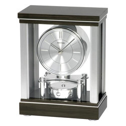 Rhythm - Clarity Mantel Clock - If you take contemporary, add a sleek design, and compliment it with a beautiful ebony finish, you will have the Clarity.