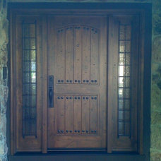 Mediterranean Front Doors by Craftsman Collective Inc.