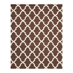 Safavieh - Tala Hand Tufted Rug, Dark Brown / Ivory 8' X 10' - Construction Method: Hand Tufted. Country of Origin: India. Care Instructions: Vacuum Regularly To Prevent Dust And Crumbs From Settling Into The Roots Of The Fibers. Avoid Direct And Continuous Exposure To Sunlight. Use Rug Protectors Under The Legs Of Heavy Furniture To Avoid Flattening Piles. Do Not Pull Loose Ends; Clip Them With Scissors To Remove. Turn Carpet Occasionally To Equalize Wear. Remove Spills Immediately. Update your living room, bedroom or entry hall with a beautifully textured Askot area rug featuring an over-scaled Moroccan motif that has graced beautified artisan tile floors for centuries. Hand-tufted of superior wool pile and crafted to endure, this simple but striking rug contrasts plush and pile textures for rich dimension.