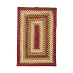 Homespice Decor - Homespice Decor Santa Fe Sunrise Braided Rug Multicolor - 401250 - Shop for Rugs and Runners from Hayneedle.com! The Homespice Decor Santa Fe Sunrise Braided Rug features the colors of the Southwest with shades of red desert tan toasty brown cactus green and soft cream to form a palette that adds a bright spot to any room. These 100% cotton flat braided rugs lend color warmth and a cozy feel to any home. Made in India.Sizes offered in this rug:Following are all sizes for this rug. Please note that some may be currently unavailable due to inventory. Also please note that rug sizes may vary by up to 4 inches in dimensions listed.Dimensions:2 x 3 ft.2.3 x 4 ft.3 x 5 ft.4 x 6 ft.5 x 8 ft.6 x 9 ft.2.6. x 6 ft. Rectangle Runner2.6 x 9 ft. Rectangle Runner3 ft. Square6 ft. Square2 x 3 ft. Oval2.3 x 4 ft. Oval3 x 5 ft. Oval4 x 6 ft. Oval5 x 8 ft. Oval6 x 9 ft. Oval8 x 10 ft. Oval2.6. x 6 ft. Oval Runner2.6 x 9 ft. Oval Runner3 ft. Round6 ft. Round7.6 ft. RoundAbout Homespice Decor RugsProducing quality homemade products since 1998 Homespice Decor has become an industry leader in braided rugs (outdoor indoor wool and cotton) and has expanded its line to include penny rugs rag rugs and its newest - Supernova rugs - which feature a swirling star braid design. Formerly known as J Quilts Company Homespice Decor shifted its focus from quilts to rugs pouring itself into the intricate details of braided rug craftsmanship. Homespice Decor is committed to providing affordable braided rugs of the highest quality in an abundance of sizes and styles.