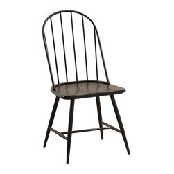 Powell - Powell Sechrest Side Chairs (Pack of 4) X-CS1002D41 - The Sechrest side chair is made in a simple style to give your kitchen or dining room a charming feel that you will love. It has traditional style, with a touch of industrial, in the black metal spindle back and dark brown wood finish carved saddle seat. The turned legs of the chair are tapered and feature clean lines in a dark brown finish. The Sechrest Side Chair will blend beautifully with your d&#233:cor to create an inviting and comfortable place in your home. Some Assembly.