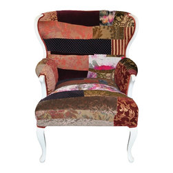 Artsy Chair - A accent chair upholstered with Sara Palacios hand crafted fabric.