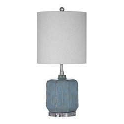 Bassett Mirror - Bassett Mirror Vega Table Lamp L2760TEC - Bassett Mirror Vega Table Lamp L2760TEC