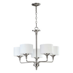 Quorum International - Quorum 6090-5-65 Rockwood 5Lt Chandelier - Stn - Quorum 6090-5-65 Rockwood 5LT Chandelier - Stn