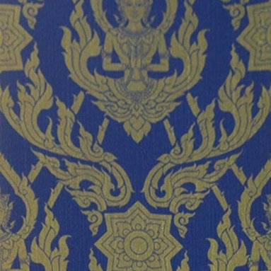 Bijou Coverings - Thai Buddha Textured Decorative Wallpaper, Blue - This beautiful Thai Buddha inspired textured decorative wallpaper by Bijou Coverings  can transform a room quickly and easily. In today's world, wallpaper is the hip new approach to cover your walls, a way to express your individuality and personal taste. You can wallpaper all four walls or just even an accent wall. Our patterns consists of being fresh and modern with great textures. We have an option for all tastes. Our wallcoverings are washable for stability and ease of use.