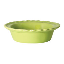 Chantal - Chantal 5 in. Lime Green Classic Individual Pie Dish - Set of 4 - 93-PD13/4 GM - Shop for Pie Dishes from Hayneedle.com! The Chantal 5 in. Lime Green Classic Individual Pie Dish - Set of 4 allows you to add a little extra flair to your more intimate meals. These handsome pie dishes are made from hand-sanded ceramic and have a 1.5-cup capacity allowing you to prepare and serve individual pies cobblers and more. The tart-lime green glaze that coats each piece is nonporous so it won't affect the flavor and helps conduct heat evenly reducing burning and undercooking. Pieces are dishwasher microwave oven and freezer safe. About Chantal Cookware CorporationAs the most renowned name in enamel-on-steel cookware today US-based Chantal Cookware Corporation was the first to bring dramatic color tempered glass lids stay-cool handles and environmentally-friendly cookware for cooking serving and storing to the world's market. Founded in 1971 by engineer Heida Thurlow the first woman in the US to launch and run a cookware company Chantal has received 26 design and utility patents from the US and Germany.