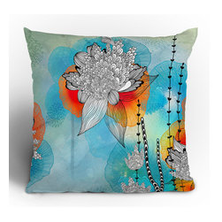 "DENY Designs - Iveta Abolina Coral Throw Pillow - Wanna transform a serious room into a fun, inviting space? Looking to complete a room full of solids with a unique print? Need to add a pop of color to your dull, lackluster space? Accomplish all of the above with one simple, yet powerful home accessory we like to call the DENY Throw Pillow! Features: -Iveta Abolina collection. -Material: Woven polyester. -Sealed closure. -Spot treatment with mild detergent. -Made in the USA. -Closure: Concealed zipper with bun insert. -Top and back color: Print. -Small dimensions: 16"" H x 16"" W x 4"" D, 3 lbs. -Medium dimensions: 18"" H x 18"" W x 5"" D, 3 lbs. -Large dimensions: 20"" H x 20 W x 6"" D, 3 lbs."