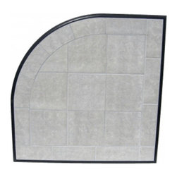 HearthSafe - HearthSafe Aluminum Frame Corner Hearth Pad - HP1-A1 - Shop for Fireplace Accessories from Hayneedle.com! Specially designed to fit into a corner the HearthSafe Aluminum Frame Corner Hearth Pad is a beautiful addition to your fireplace. Crafted from tile with a gorgeous extruded aluminum decorative edge this hearth pad is completely fireproof making it both a flame arrestor and thermal barrier. The extruded aluminum edging features an anti-scratch powder coated finish that won't corrode tarnish or blemish. Stain-resistant grout makes this hearth pad maintenance free for your convenience. Available in your choice of size and color this hearth pad also has a limited lifetime burn-through warranty. Additional Features Edging won't corrode tarnish or blemish Meets or exceeds UL safety standards Stain resistant grout BaseRigid cement board Maintenance free construction Pad is both a flame arrestor and thermal barrierAbout HearthDistribution.comWith a combined experience of 65 years HearthDistribution.com (HDC) work's hard to provide their customers with peace of mind and hands-on operation. All of their hearth pads and extensions are tested and listed to meet the current safety standards to provide you with the safest installation of your stove or fireplace insert. As an online retailer with no brick and mortar stores HDC is able to save money and passes those savings onto their customers.