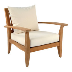 Ipanema Lounge Chair - By Kingsley Bate - Representing a confluence of modern and classical styles to achieve transitional balance, the IPANEMA lounge chair brings a natural elegance to any environment. (Designed by Glyn Peter Machin)