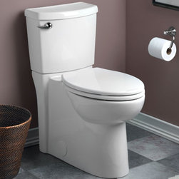 American Standard Concealed Flowise Trapway Cadet 3 El Toilet - Smarter design for higher performance and fewer clogs – all at a great price. The Cadet® 3 series toilets come in a variety of styles; one piece and two piece models, elongated and round front bowls, right height and compact versions and even water efficient models that flush on just 1.28 gallons per flush. The Cadet 3 is a hard working versatile series with superior performance.