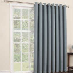 Sun Zero - Mineral Mercer Blackout Patio Panel - Filter light, reduce noise and even insulate your home with this curtain panel that offers both function and essential style. Its grommet construction prevents snags and makes installation a breeze.   Includes one panel Grommet Woven 100% polyester Machine wash Imported