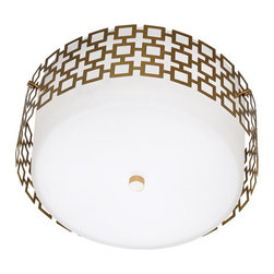 Jonathan Adler Parker Flush Mount Ceiling Light , Antique Brass - Jonathan Adler Parker Flush Mount Ceiling Light