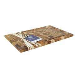 Madeira - Madeira Canary Collection Large End Grain Carving Board 11.5 x 17.25 x .75 - The Madeira Canary Collection Large End Grain Carving Board is perfect for cutting up and serving your next prime rib roast.