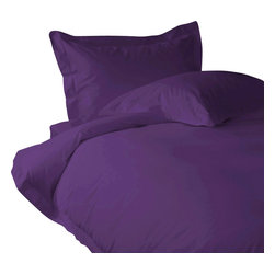 "800 TC Fitted Sheet 24"" Deep Pocket Solid Purple, California Queen - You are buying 1 Fitted Sheet (60 x 84 inches) only."