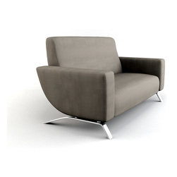 Viesso - Rondi Loveseat - Nice curves. From the moment we designed Rondi, we knew people would respond to it one way or another. This modern loveseat is an example of how dramatic furniture can be, with bold lines and carefully crafted proportions, including a one of a kind leg.