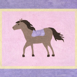Sweet Jojo Designs - Pony Accent Floor Rug by Sweet Jojo Designs - The Pony Accent Floor Rug by Sweet Jojo Designs, along with the  bedding accessories.