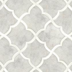 Talya Multi Finish 13 7/16x13 7/8 Gaia G D Marble Waterjet Mosaics -