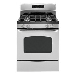 "GE - JGB428SERSS 30"" Freestanding Gas Range with 4 Sealed Burners  5.0 cu. ft. Self-C - A new gas range should meet all your cooking needs for years to come from warming a simple pan of soup for one person to handling a large dinner party or holiday meal for the whole family Plus your stove should look great in your kitchen and clean up..."